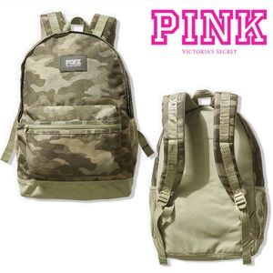 NEW💕VS PINK CAMPUS BACKPACK CAMO & SHALE GREEN